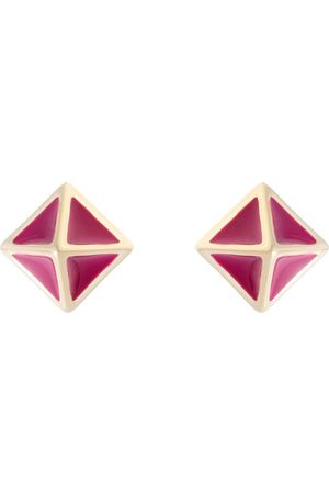 Women Studs - Women's Gold Atlas Pyramid Stud Earring - Berry All We Are