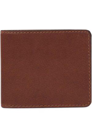 Men Wallets - Men's Brown Leather The Cobbler Wallet - Tan Nappa Dori