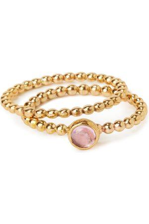 Vintouch Italy Women Earrings - Rebel Rebel Gold-Plated Pearl & Ruby Earrings