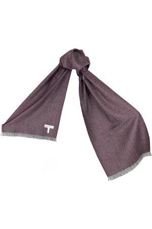 Women's Artisanal Purple Silk Grape Baby Alpaca Scarf Washein