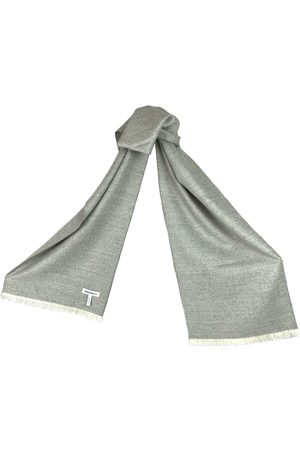 Women's Artisanal Grey Silk Light Baby Alpaca Scarf Washein