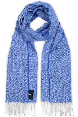 Men's Blue Cashmere Love Stories Scarf - Cobalt Heating & Plumbing London