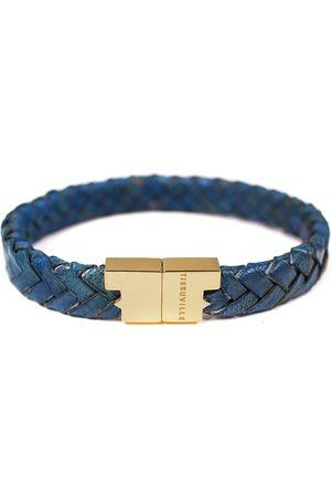 Tissuville Men Bracelets - Royal Leather Bracelet - Serac Gold