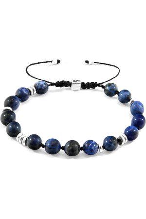Anchor & Crew Sodalite Agaya Silver & Stone Beaded Macrame Bracelet