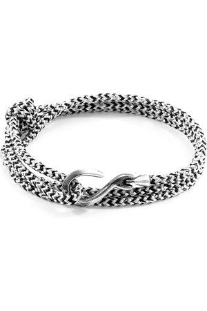 Anchor & Crew Noir Heysham Silver & Rope Bracelet