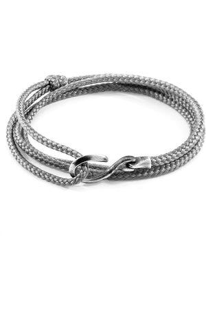 Anchor & Crew Classic Heysham Silver & Rope Bracelet