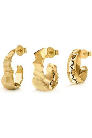 Women Earrings - Women's Low-Impact Gold Maro Hoop Set YOJ