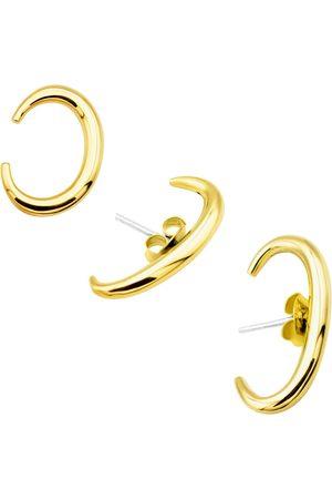 Women's Artisanal Gold Brass Vintage Ear Cuff Set MvdT Collection