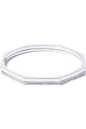 Women's Recycled Silver Aris Pave Bangle Set Via Saviene
