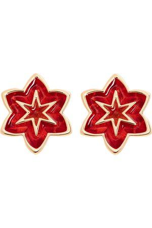 Women Studs - Women's Red/Gold Starflower Stud Earring All We Are
