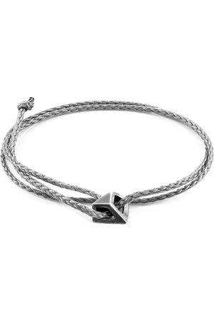 Anchor & Crew Classic Arthur Silver & Rope Skinny Bracelet