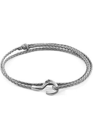 Men's Artisanal Grey Classic Charles Silver Rope Skinny Bracelet ANCHOR & CREW