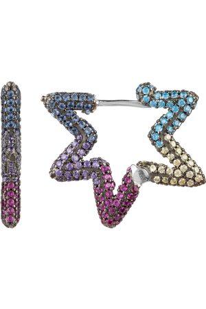 ARTISAN 18Kt Gold Crescent Moon Shape Pendant Diamond Emerald Pearl Sapphire Turquoise Jewelry