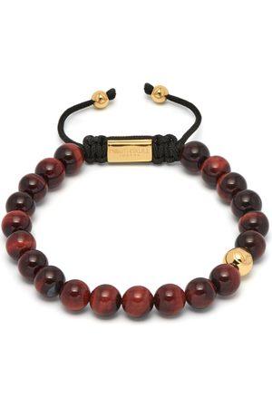 NORTHSKULL Red Tiger Eye Asymmetrical Bracelet / Gold