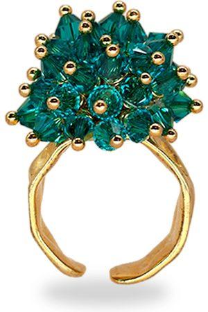 Women's Artisanal Gold/Blue Tropical Girl Ring ANNELE