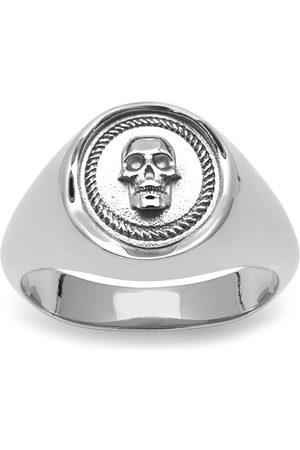 NORTHSKULL Atticus Skull Seal Pinky Ring In