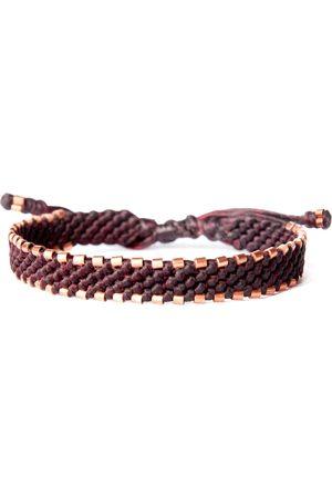 Men's Vegan Copper Red Wine Cord & Solid Handmade Bracelet - Connection Harbour UK Bracelets