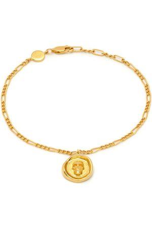 Men Bracelets - Men's Gold Atticus Skull Seal Charm Chain Bracelet In Northskull