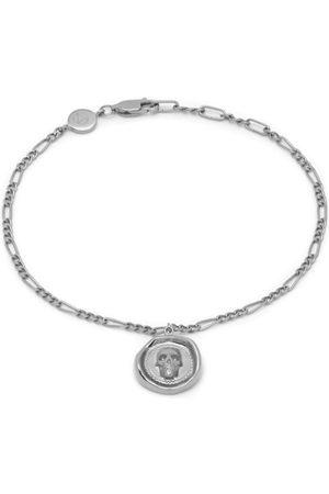 Men Bracelets - Men's Silver Atticus Skull Seal Charm Chain Bracelet In Northskull