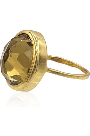 Eliza Bautista Aissa Ring With Whisky Quartz In 18K Vermeil