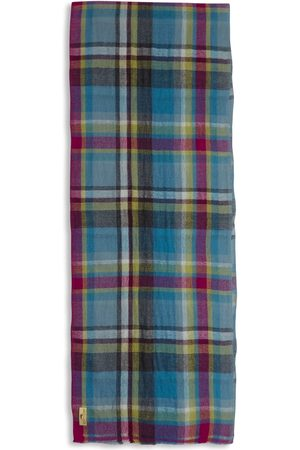 Men's Artisanal Wool Cashmere & Merino Scarf - Tartan Colour Burrows & Hare