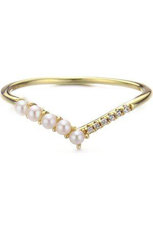 Azura Jewelry Cross The Path Pearl Ring