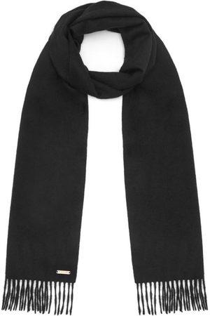 Men Scarves - Men's Non-Toxic Dyes Black Cashmere Windsor Scarf Hortons England
