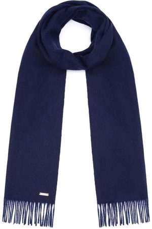 Men Scarves - Men's Non-Toxic Dyes Navy Cashmere Windsor Scarf Hortons England