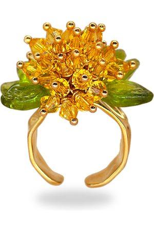 Rings - Women's Artisanal Gold/Green/Yellow Buttercup Baby Ring ANNELE