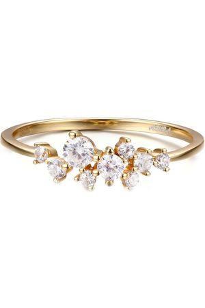 Azura Jewelry Women Rings - Glitter Raindrop Ring In Yellow Vermeil