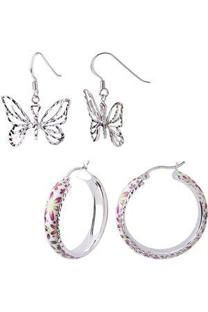 Women Earrings - Women's Artisanal Gold Butterfly Earrings Set Gold & Honey