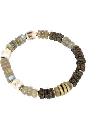 Men's Artisanal Labradorite Brass Balsam Bracelet Mickey Lynn