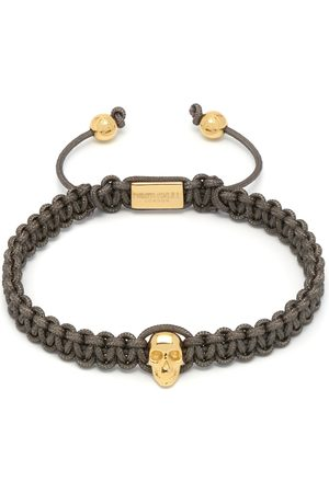 Men Bracelets - Men's Grey Atticus Skull Macramé Bracelet Northskull
