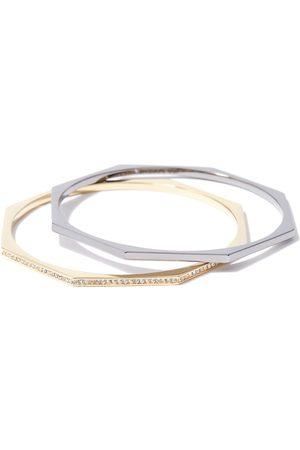 Women Bracelets - Women's Recycled Aris Pave Bangle Set Via Saviene