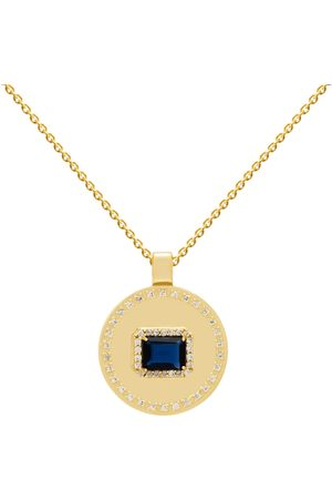 Women's Recycled Blue Brass Goldplated Alisa Necklace LAVANI JEWELS