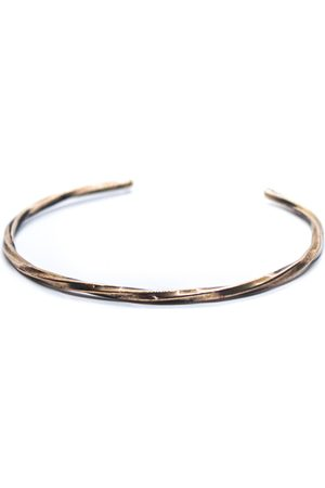 Men's Artisanal Rose Gold Brass Twisted Bracelet LEF jewelry