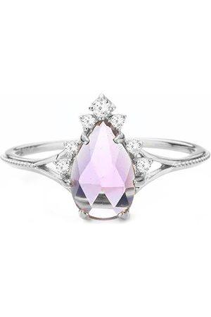 Azura Jewelry Women Rings - Nirvana Amethyst White Gold Ring