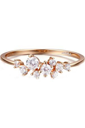 Azura Jewelry Glitter Raindrop Ring In Vermeil