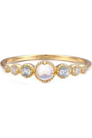 Azura Jewelry Women Rings - Divinity Moonstone Aquamarine Ring