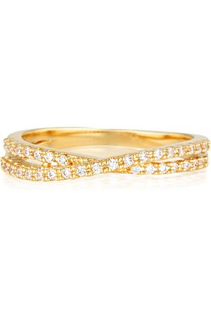 Sahara Jewellery Crossover Pave Band - 18K Filled