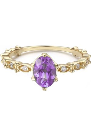 Azura Jewelry Women Rings - Dance With The Wave Amethyst Ring