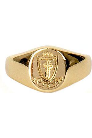 Men's Silver Gold-Plated Crest Signet Ring Serge DeNimes