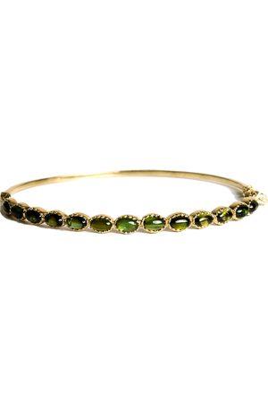 Women Bracelets - Women's Artisanal Gold Bracelet With Cabochon Green Tourmaline hania kuzbari jewelry designs
