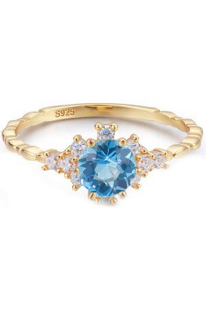 Azura Jewelry Women Rings - Clarity Blue Topaz Ring