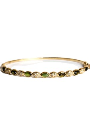 Women's Artisanal Green Gold Bracelet With Diamonds & Tourmaline hania kuzbari jewelry designs