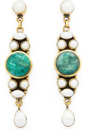Women's Artisanal Green Brass Glamour Girl Earrings Miss Mathiesen