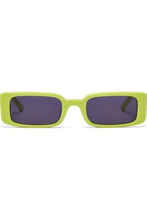 Hot Futures Girls Sunglasses - Wild Child - Neon Yellow Smoke Lens