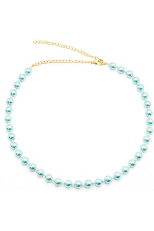 Girls Necklaces - Women's Artisanal Blue A Pearly Girl Chain Miss Mathiesen