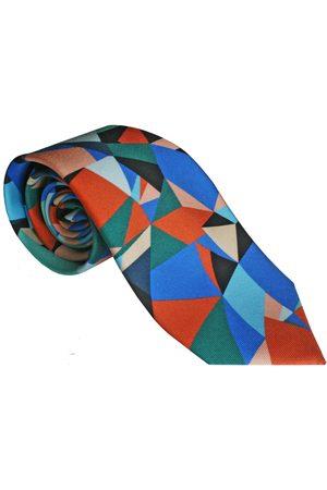 Men Neckties - Men's Artisanal Blue Silk The Spectrum Tie - Cobalt Emily Carter