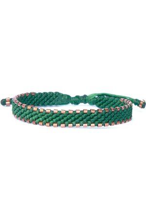 Men's Artisanal Copper Green Waxed Cord & Solid Handmade Bracelet - Connection Harbour UK Bracelets
